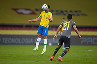 4th June 2021; Beira-Rio Stadium, Porto Alegre, Brazil; Qatar 2022 qualifiers; Brazil versus Ecuador; Casemiro of Brazil clears with a header as Alan Franco of Ecuador closes in