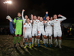East Kilbride FC celebrate winning the tie and will face Celtic in the next round