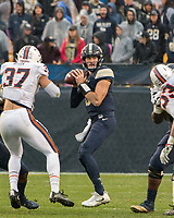 Pitt quarterback Ben DiNucci. The Pitt Panthers defeated the Virginia Cavaliers 31-14 at Heinz Field, Pittsburgh, PA on October 28, 2017.