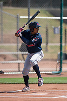 Cleveland Indians shortstop Jose Fermin (13) during a Minor League Spring Training game against the San Francisco Giants at the San Francisco Giants Training Complex on March 14, 2018 in Scottsdale, Arizona. (Zachary Lucy/Four Seam Images)
