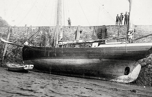 Ship of Dreams…..the ketch Ilen at Ilfracombe in the Bristol Channel in 1926 shortly before departing on her voyage to the Falklands under Conor O'Brien's command, while on the quay young boys dream of running away to sea.