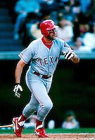 Will Clark of the Texas Rangers plays in a baseball game at Edison International Field during the 1998 season in Anaheim, California. (Larry Goren/Four Seam Images)