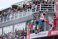 JACK MILLER - AUSTRALIAN - ALMA PRAMAC RACING - HONDA<br /> FABIO QUARTARARO - FRENCH - PETRONAS YAMAHA SRT - YAMAHA<br /> Valencia 17-11-2019<br /> Moto Gp Spain <br /> Foto Vincent Guignet / Panoramic / Insidefoto