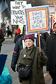 Demonstration organised by Camden Keep Our NHS Public to protest at the privatisation of local GP practices by Camden Primary Care Trust.  Three practices have already been transferred to the control of UnitedHealth, the UK branch of an American health insurance company.