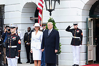 The arrival ceremony of the President of France and Mrs. Macron (Official White House Photo by Stephanie Chasez)