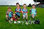 Ready for action at the Abbeydorney GAA Cúl Camps on Monday, l to r: Roland Cantillon, Darragh Cunningham, Darragh O'Connor and Luke O'Keeffe.