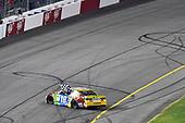 #18: Kyle Busch, Joe Gibbs Racing, Toyota Camry M&M's celebrates his win