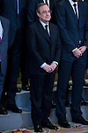 President of Real Madrid, Florentino Perez during the audience to the champion  of the 80th edition of the cup of your R.M. The King, Real Madrid Basketball at Zarzuela Palace in Madrid. February 25, 2016 (ALTERPHOTOS/BorjaB.Hojas)