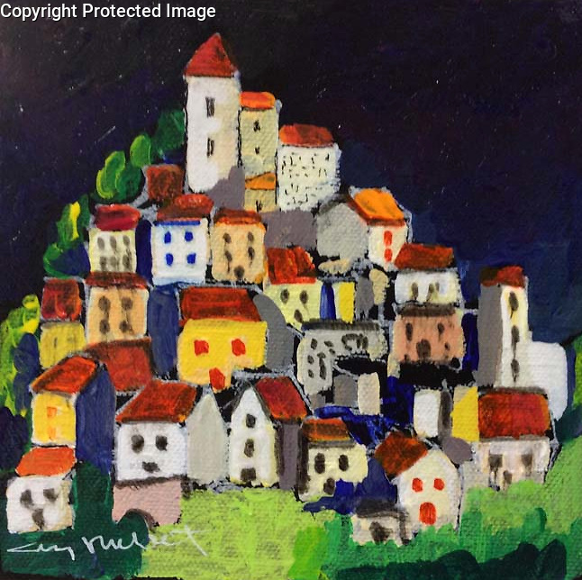 Callian<br /> 6x6 Acrylic on Canvas Original Painting<br /> $1,200
