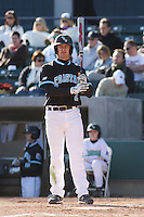 Chance Gilmore of the Coastal Carolina University Chanticleers at the plate during a game against NC State University at the Baseball at the Beach Tournament held at BB&T Coastal Field in Myrtle Beach, SC on February 28, 2010.
