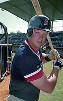 Boston Red Sox Scott Cooper (34) during Spring Training 1993 at City of Palms Park in Fort Myers, Florida.  (MJA/Four Seam Images)