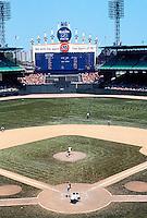 Ballparks: Chicago Comiskey Park. Grandstand, upper deck, 1978.