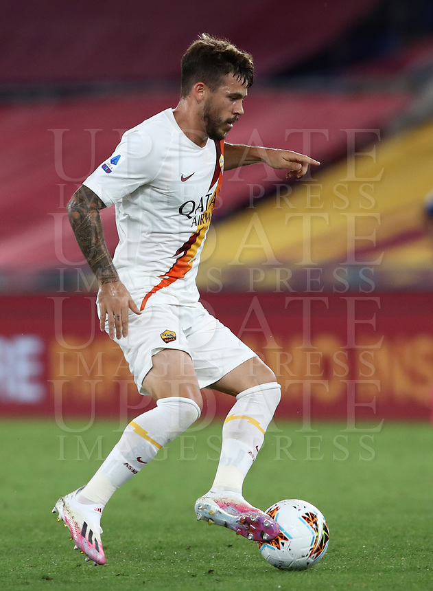Roma's Carles Perez in action during the Italian Serie A football match between Roma and Parma at Rome's Olympic stadium, July 8, 2020.<br /> UPDATE IMAGES PRESS/Isabella Bonotto