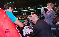 Rotterdam, The Netherlands, 12 Februari 2019, ABNAMRO World Tennis Tournament, Ahoy, first round singles: Milos Raonic (CAN),<br /> Photo: www.tennisimages.com/Henk Koster