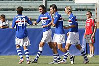 Esultanza gol Bonazzoli Sampdoria<br /> La Spezia 16/08/2008 Calcio <br /> Siena Sampdoria <br /> Foto Insidefoto