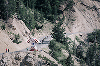 descending in the  final section of La Casse Déserte up the Col d'Izoard (HC/2360m/14.1km/7.3%)<br /> <br /> 104th Tour de France 2017<br /> Stage 18 - Briancon › Izoard (178km)
