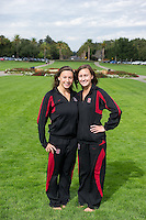 Liane Lovitt and Leigh Haldeman of the 2010 Stanford Synchronized Swimming team.