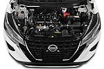 Car Stock 2021 Nissan Kicks - 5 Door SUV Engine  high angle detail view