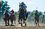 July 5, 2014: Clearly Now, ridden by Jose Lezcano, wins the Belmont Sprint Championship Stakes on Belmont Derby Day at Belmont Park in Elmont, New York. Scott Serio/ESW/CSM