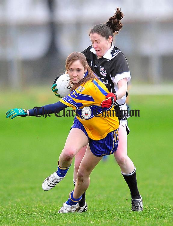 Ladies Football Clare v Sligo at St Flannans.Pic Arthur Ellis.