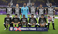 ORLANDO CITY, FL - JANUARY 31: Trinidad and Tobago starting eleven during a game between Trinidad and Tobago and USMNT at Exploria stadium on January 31, 2021 in Orlando City, Florida.