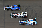 Verizon IndyCar Series<br /> Indianapolis 500 Race<br /> Indianapolis Motor Speedway, Indianapolis, IN USA<br /> Sunday 28 May 2017<br /> Marco Andretti, Andretti Autosport with Yarrow Honda, Will Power, Team Penske Chevrolet and Takuma Sato, Andretti Autosport Honda<br /> World Copyright: Russell LaBounty<br /> LAT Images