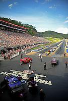 Jun. 17, 2011; Bristol, TN, USA: Overall view of Bristol Dragway during qualifying for the Thunder Valley Nationals. Mandatory Credit: Mark J. Rebilas-