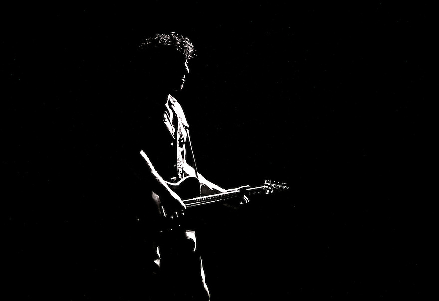 """Legendary rock star and icon Bruce Springsteen performs during his """"Born in the U.S.A."""" tour in Philadelphia"""