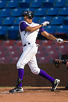 Salvador Sanchez #7 of the Winston-Salem Dash follows through on his swing versus the Frederick Keys at Wake Forest Baseball Stadium August 9, 2009 in Winston-Salem, North Carolina. (Photo by Brian Westerholt / Four Seam Images)