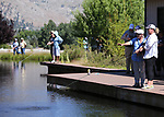 Breast cancer survivors learn to flyfish during a Casting for Recovery retreat in Gardnerville, Nev., on Friday, June 39, 2017.<br /> Photo by Cathleen Allison/Nevada Photo Source