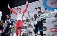 podium:<br /> 1/ Alexander Kristoff (NOR/Katusha)<br /> 2/ Fabian Cancellara (CHE/TrekFactoryRacing)<br /> 3/ Ben Swift (GBR/SKY)<br /> <br /> 2014 Milano - San Remo