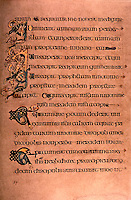 Visual Arts:  Book of Kells--iIluminated manuscript, Gospel Book in Latin.   On permanent display at the Trinity College Library,  Photo '84.