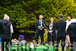 The funeral of Mike O'Neill at Camp burial ground on Monday.