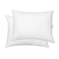 Down pillows ready for sales on Amazon, catalogs and websites. Photographed with a pure white background.