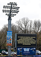 Prince Philip tribute displayed on the elelectronic scoreboard during Kent CCC vs Yorkshire CCC, LV Insurance County Championship Group 3 Cricket at The Spitfire Ground on 17th April 2021