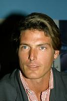 Christopher Reeves<br /> au Festival des Films du Monde le 23 aout 1987.<br /> <br /> PHOTO : Agence Quebec Presse