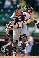 Fort Myers Miracle catcher Matt Koch #20 during a game against the Bradenton Marauders at McKechnie Field on April 7, 2013 in Bradenton, Florida.  Fort Myers defeated Bradenton 9-8 in ten innings.  (Mike Janes/Four Seam Images)