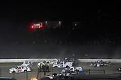 #34: Devin Dodson, Reaume Brothers Racing, Chevrolet Silverado and #16: Austin Hill, Hattori Racing Enterprises, Toyota Tundra United Rentals wreck
