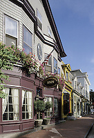 Newport, Rhode Island.The Hydrangea House Inn is in the foreground in this view of the Newton Block on Bellevue Avenu