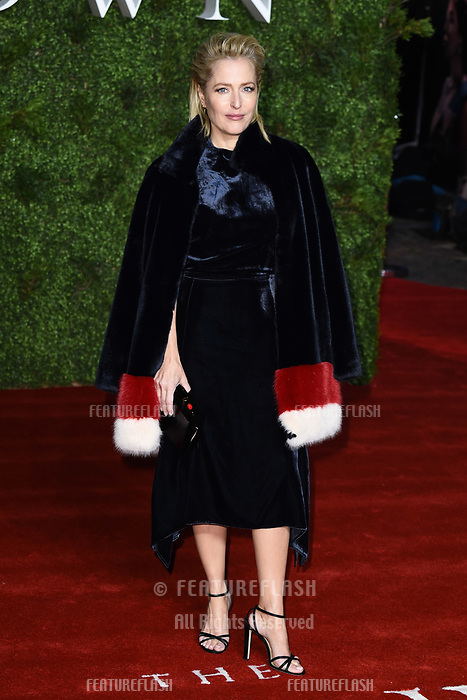 """LONDON, UK. November 13, 2019: Gillian Anderson arriving for """"The Crown"""" series 3 premiere at the Curzon Mayfair, London.<br /> Picture: Steve Vas/Featureflash"""