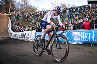 Thomas Pidcock (GBR/TP Racing) in the infamous 'PIt'<br /> <br /> CX Superprestige Zonhoven (BEL) 2019<br /> Elite & U23 mens race