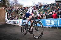 Thomas Pidcock (GBR/TP Racing) in the infamous 'PIt'<br /> <br /> CX Superprestige Zonhoven (BEL) 2019<br /> Elite & U23 mens race