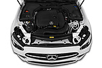 High angle engine detail of a 2021 Mercedes Benz E Class AMG Line 2 Door Coupe