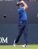 15th July 2021; Royal St Georges Golf Club, Sandwich, Kent, England; The Open Championship, PGA Tour, European Tour Golf, First Round ;  Paul Waring (ENG) watches his tee shot on the 1st hole