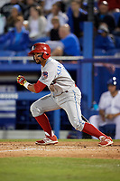 Clearwater Threshers Drew Stankiewicz (15) at bat during a game against the Dunedin Blue Jays on April 8, 2017 at Florida Auto Exchange Stadium in Dunedin, Florida.  Dunedin defeated Clearwater 12-6.  (Mike Janes/Four Seam Images)