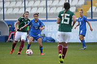 20190227 - LARNACA , CYPRUS : Mexican midfielder Nayeli Rangel (left) and Italian defender Elisa Bartoli (left) pictured during a women's soccer game between Mexico and Italy , on Wednesday 27 February 2019 at the Antonis Papadopoulos Stadium in Larnaca , Cyprus . This is the first game in group B for both teams during the Cyprus Womens Cup 2019 , a prestigious women soccer tournament as a preparation on the FIFA Women's World Cup 2019 in France and the Uefa Women's Euro 2021 qualification duels. PHOTO SPORTPIX.BE | STIJN AUDOOREN