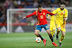 Spain's Pablo Fornals and Romania's Ciobanu Andre  during the International Friendly match on 21th March, 2019 in Granada, Spain. (ALTERPHOTOS/Alconada)