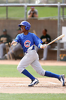 Starlin Castro, Chicago Cubs 2010 minor league spring training..Photo by:  Bill Mitchell/Four Seam Images.