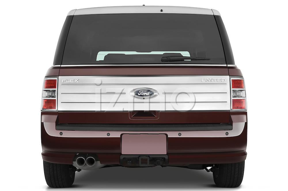 Straight rear view of a 2009 Ford Flex