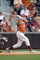 Texas Longhorns outfielder Jonathan Walsh #33 swings against the Texas A&M Aggies in NCAA Big XII Conference baseball on May 21, 2011 at Disch Falk Field in Austin, Texas. (Photo by Andrew Woolley / Four Seam Images)